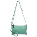 Hot Green SYMELI Lady Shoulder Bag Messenger Satchel Tote Handbag Faux Leather