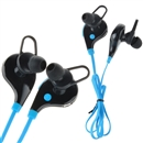 Black and blue Wireless Sports Bluetooth V4.1 Stereo Headset Earphone With MIC For Smartphone