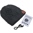 Black Warm Beanie Hat Wireless Bluetooth Smart Cap Headphone Headset Speaker Mic SK-H004B