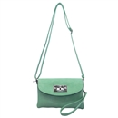 Green Ustyle ladies Rotary button Shoulder bag Satchel Messenger Tote Handbags