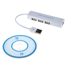USB to RJ45 Lan Card Ethernet Network Cable+3 Port Hub for Win7/8 XP Perfect