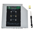 Laptop 2nd Driver Caddy mSATA SSD to Slim SATA for 12.7mm CD/DVD-ROM Optical Bay