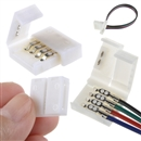 10pcs Mini 4-PIN RGB Connector Adapter For 5050 RGB LED Strip Solderless 10mm