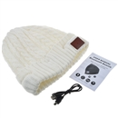 White Warm Beanie Hat Wireless Bluetooth Smart Cap Headphone Headset Speaker Mic SK-H032B
