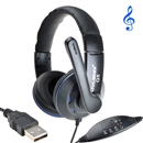OVLENG Q5 USB Stereo Headphone Headset Earphone with Microphone for PC Laptop  blue