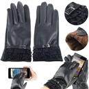 Elegant Lady Womens Winter Warm PU Leather Touch Screen Gloves For Phone Gift