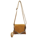 Brown SYMELI Solid Color Lady Messenger Cross Body Totes Shoulder Bag Satchel