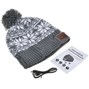 Gray Warm Beanie Hat Wireless Bluetooth Smart Cap Headphone Headset Speaker Mic SK-H009B