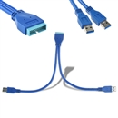 2 Port USB 3.0 A Male to 20 Pin Male Header Motherboard Extension Adapter Cable