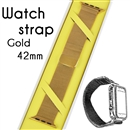 Magnetic Milanese Loop Bracelet Replacement Strap Watch bands For Apple iWatch Gold 42mm