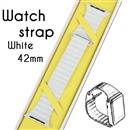 Genuine Leather Loop Magnetic Loop Stainless Watch Band For Apple Watch White 42mm