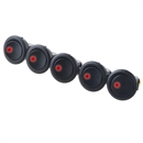 5PCS Car 12V Round Rocker Dot Boat Red LED Light Toggle Switch SPST ON / OFF US