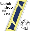 Genuine Leather Loop Magnetic Loop Stainless Watch Band For Apple Watch Blue 38mm