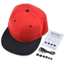 Wireless Bluetooth Sport Hip-Hop Baseball Cap Hat Handsfree Earphone Speaker Mic Black+Red