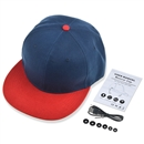 Wireless Bluetooth Sport Hip-Hop Baseball Cap Hat Handsfree Earphone Speaker Mic Blue+Red