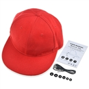 Wireless Bluetooth Sport Hip-Hop Baseball Cap Hat Handsfree Earphone Speaker Mic Red