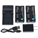2 x NP-F550 Battery+Charger for Sony NP-F570 NP-F730 NP-F750 F330 F930 F950 F530  black