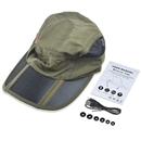 Twill Hat Bluetooth Cap Wireless Handsfree Headset Headphone Speaker SK-H104B Gray Amy Green