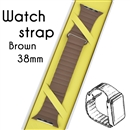 Genuine Leather Loop Milanese Magnetic Loop Stainless Watch Band For Apple Watch Brown 38mm