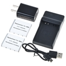 NB-6L Battery and Charger Kit for CANON PowerShot SX510 HS, SX500 IS, SX700 HS, SX280 HS, SX260 HS, SX170 IS, Pack of 2  black
