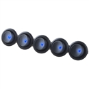 5PCS Car 12V Round Rocker Dot Boat Blue LED Light Toggle Switch SPST ON / OFF US