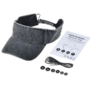 Adjustable Sun Hat Bluetooth Cap Wireless Headset Headphone Speaker SK-H110B Washed Gray Denim