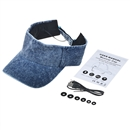 Adjustable Sun Hat Bluetooth Cap Wireless Headset Headphone Speaker SK-H110B Washed Blue Denim