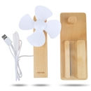 Desktop Laptop PC USB Fan with Phone Pad Charging Holder Stand sapele