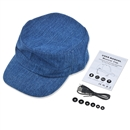 Adjustable Flat Hat Bluetooth Cap Wireless Headset Headphone Speaker SK-H109B  Dark blue denim