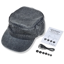 Adjustable Flat Hat Bluetooth Cap Wireless Headset Headphone Speaker SK-H109B  Dark blue denim Washed blue denim Denim wash gray