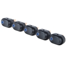 5 X Blue LED Light 12V 30Amp 30A Car Boat Auto Rocker SPST Toggle Switch