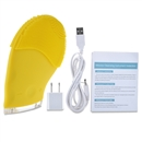 Care Touch Silicone Sonic Facial Cleansing and Massager Brush, USB Charging Cord and USB Charging Plug Included  Yellow