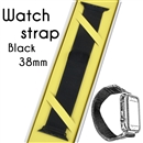 Magnetic Milanese Loop Bracelet Replacement Strap Watch bands For Apple iWatch Black 38mm