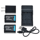 Battery for Sony A6000 A5000 A3000 A7R A7S A7 II NEX 5T 3N + Charger 2x NP-FW50 black