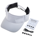 Baseball Hat Wireless Bluetooth Smart Cap Headphone Headset Speaker Mic SK-103 White