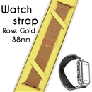 Magnetic Milanese Loop Bracelet Replacement Strap Watch bands For Apple iWatch Rose Gold 38mm