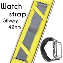 Magnetic Milanese Loop Bracelet Replacement Strap Watch bands For Apple iWatch Silver 42mm