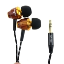 Awei ES-Q5 In Ear Earphone for iPhone 3GS 4 4S 5 iPod Touch Special Wood Design Brown