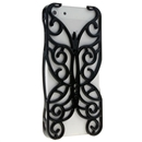 Black Butterfly Hollow Out Floral Cover Case Skin Protector For iPhone 5