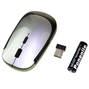 Grey Slim 2.4G Wireless Mouse With Battery for Laptop PC Pro Mac