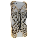 Gloden Butterfly Hollow Out Floral Cover Case Skin Protector For iPhone 5