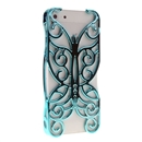 Shallow blue Butterfly Hollow Out Floral Cover Case Skin Protector For iPhone 5