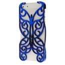 blue Butterfly Hollow Out Floral Cover Case Skin Protector For iPhone 5