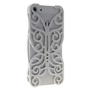White Butterfly Hollow Out Floral Cover Case Skin Protector For iPhone 5