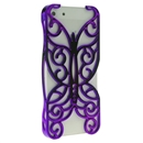Purple Butterfly Hollow Out Floral Cover Case Skin Protector For iPhone 5