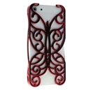 Red Butterfly Hollow Out Floral Cover Case Skin Protector For iPhone 5